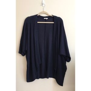 Maurice's Open Front 3/4 Sleeve Cocoon Cardigan